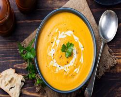 سوپ کدو تنبل با زیره